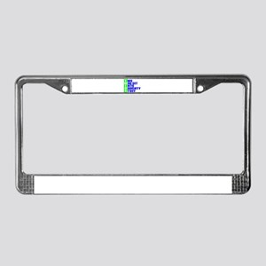 Naughty twins License Plate Frame